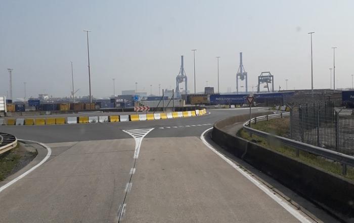 Embarquement pour l'Angleterre à Zeebrugge sous 35 degrés !