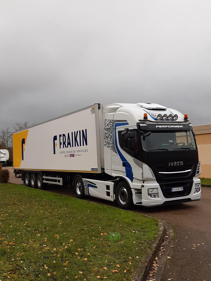 Convoyage semi frigo Lamberet pour Fraikin France