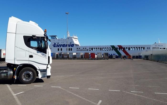 Enlèvement au port de SETE d'une semi-remorque en provenance de Turquie