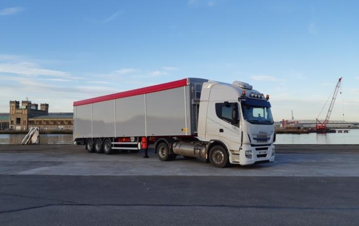 Livraison au port de Cherbourg pour notre client LEGRAS à destination de l'Irlande!